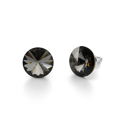 Elite Black Diamond - Stud Earrings