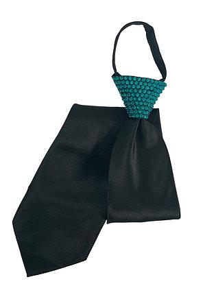 NF - Blue Zircon Black Zip Tie