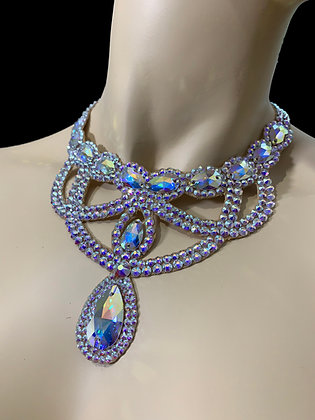 JLN15- Crystal AB Necklace