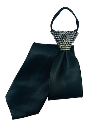 NF - Jet Hematite / Blk Diamond Black Zip Tie