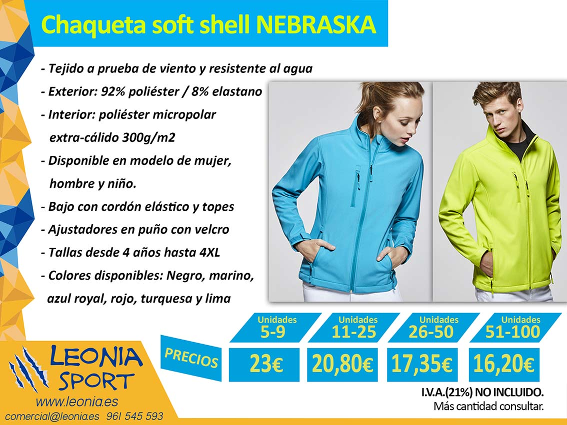Chaqueta soft shell NEBRASKA