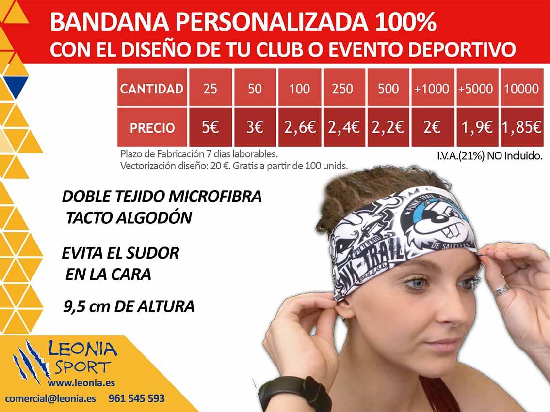BANDANA PERSONALIZADA 100%