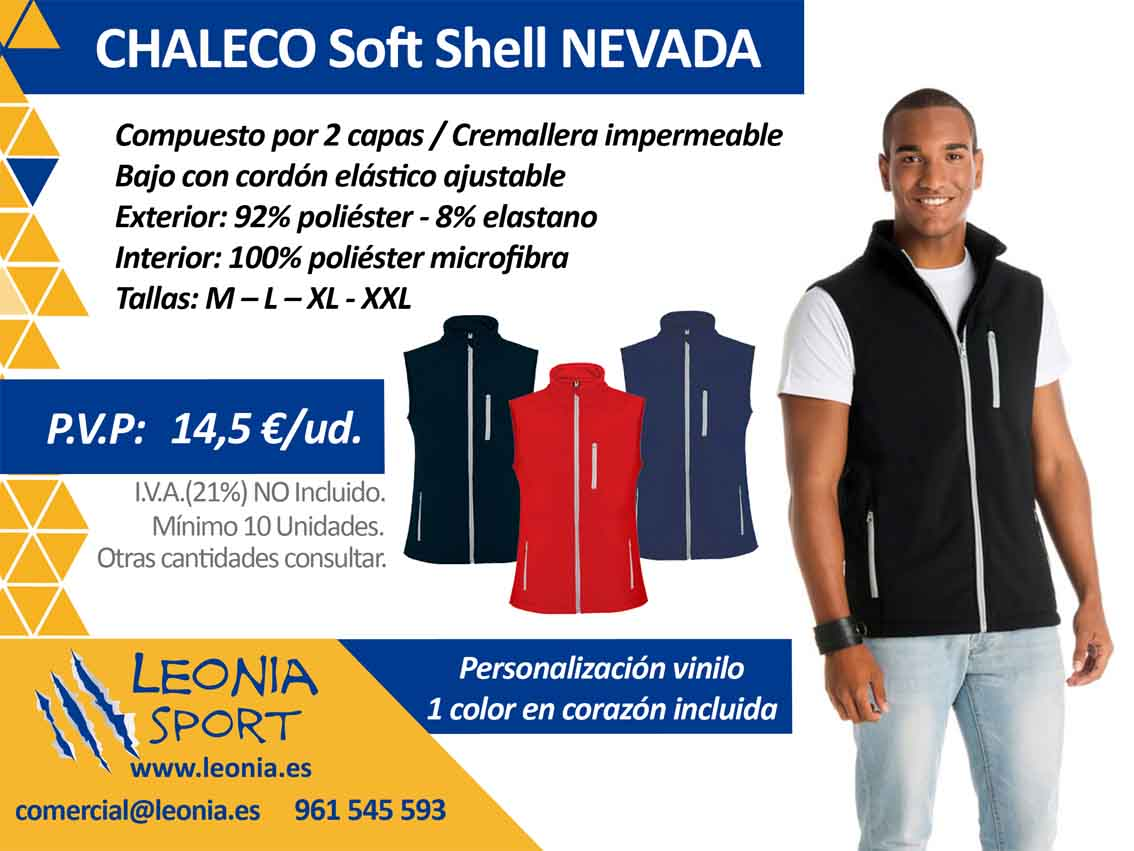 CHALECO SOFT SHELL NEVADA