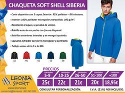 Chaqueta soft shell Siberia