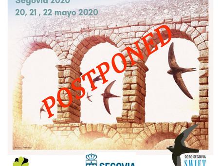 El 6º Congreso Internacional de Vencejos se ha pospuesto por el Covid-19