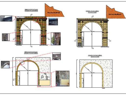 La tavola del rilievo sull'Arco del Cimitero