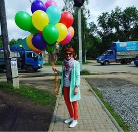 Разноцветные гелевые шары