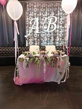 Шары и цветы на свадьбе