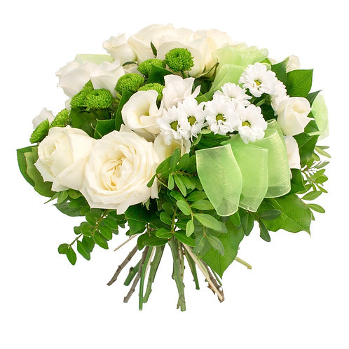 Букет роз с хризантемой