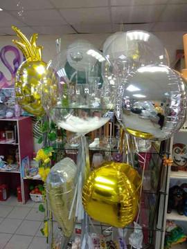 Бабл и фольгированные шары на подарок