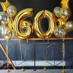 Шары на 60 лет на юбилей