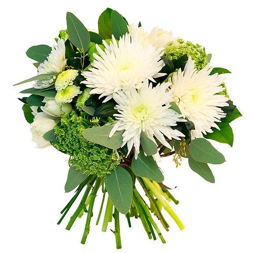 Хризантемы с зеленью
