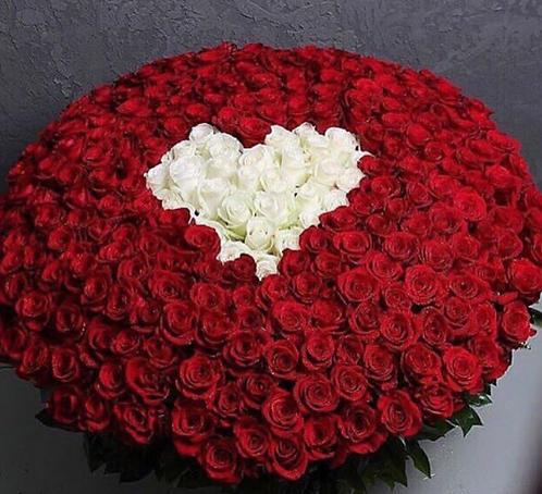 351 роза с сердцем