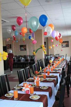Украшение зала шарами на день рождения