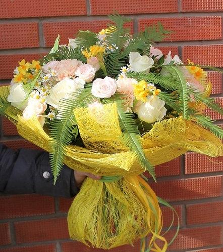 Букет солнечный цветок