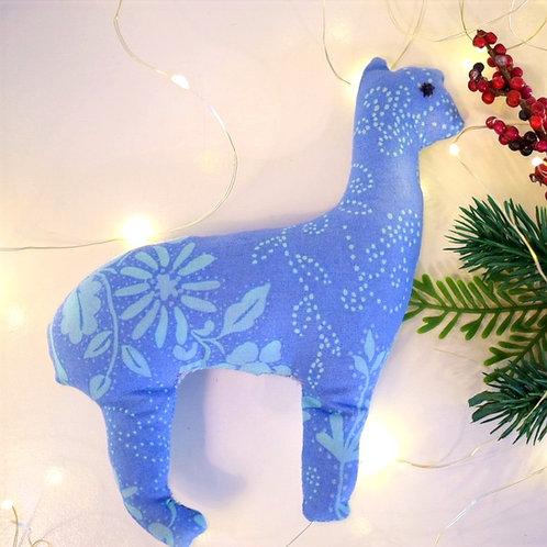 2D Blue Alpaca