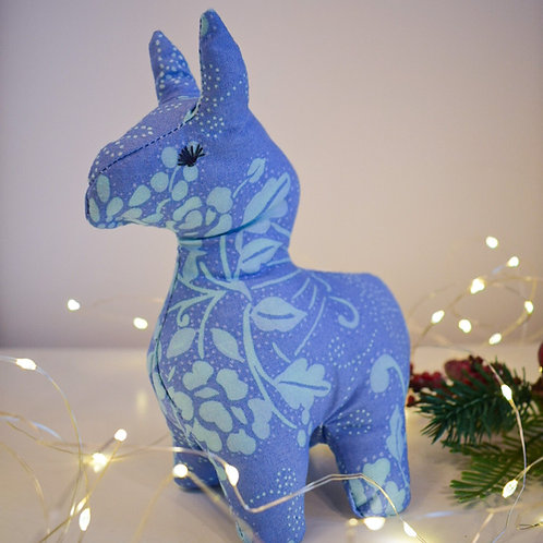 3D Blue Alpaca
