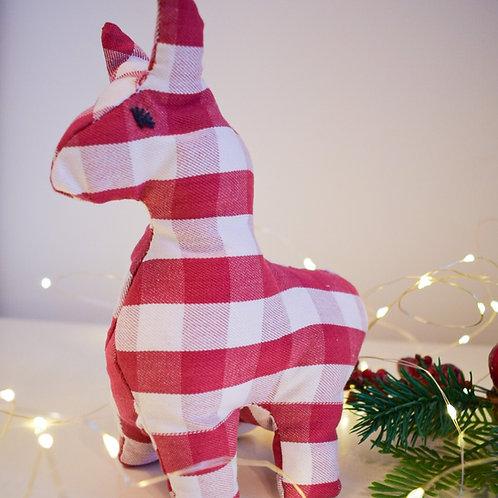 3D Red & White Alpaca