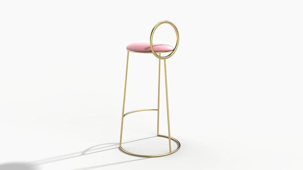 Flat Geometry Bar Chair