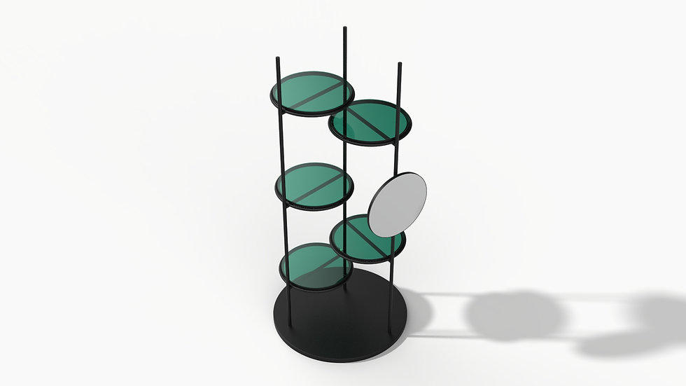 Light & Shadow Rack with Mirror