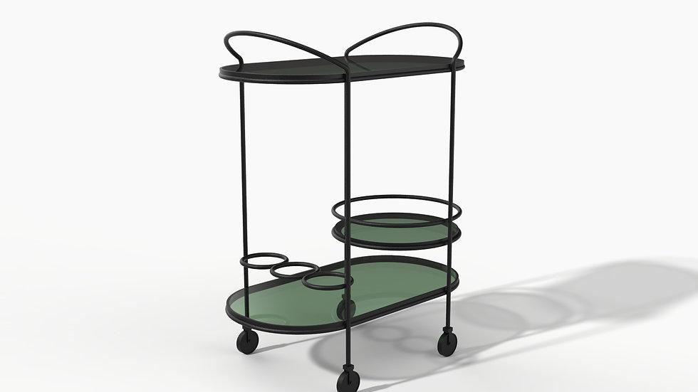 Light & Shadow Bar Cart