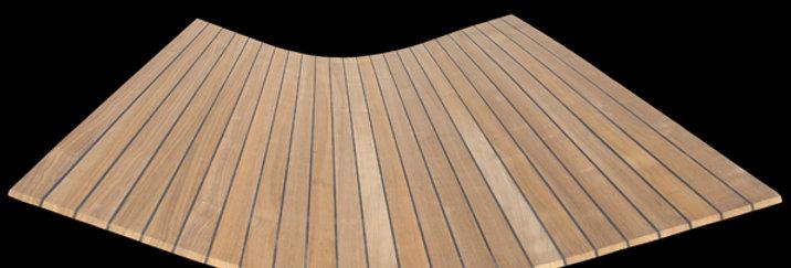Soild Teak Decking Panels 12mm