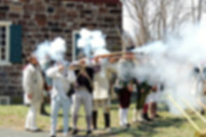 American troops firing muskets