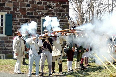 American troops firing muskets