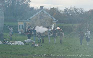 Firing muskets inside Fort Mifflin Pennsylvania