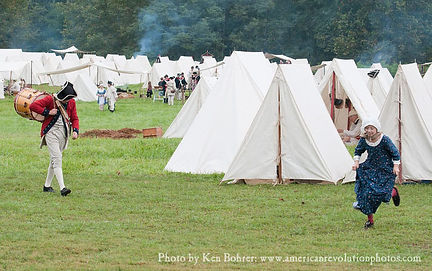 Tents in the 18th centuy military camp