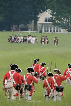 A battle between American and British troops