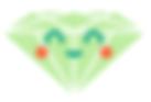 green smiley face diamond