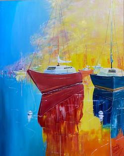 Smaller Sunset Boats