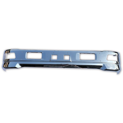 いすゞ エルフ ワイド 車 メッキ フロント バンパー ワイドキャブ W1950mm 汎用 エアダム 一体 スポイラー 鉄製 (税別)