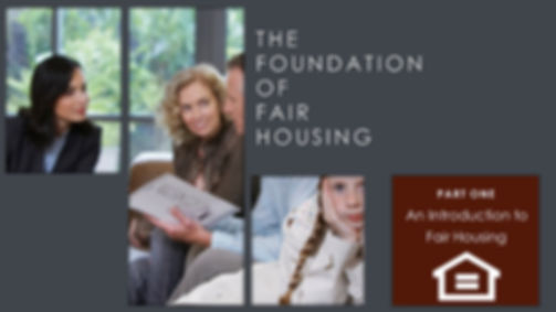 Intro to Fair Housing Online Learning Course