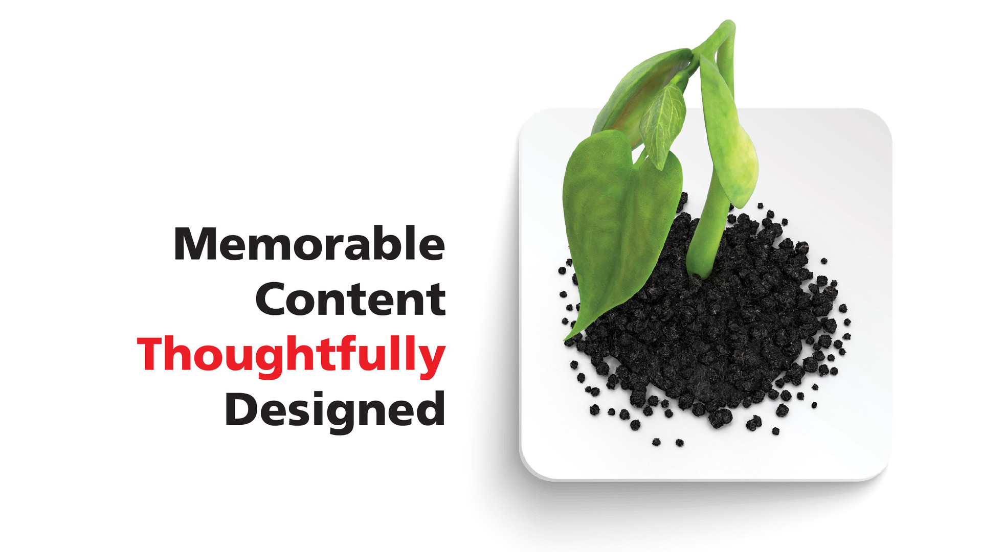 Memorable content thoughtfully designed