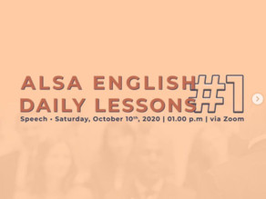 English Daily Lesson #1
