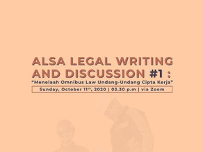 ALSA Legal Writing and Discussion #1