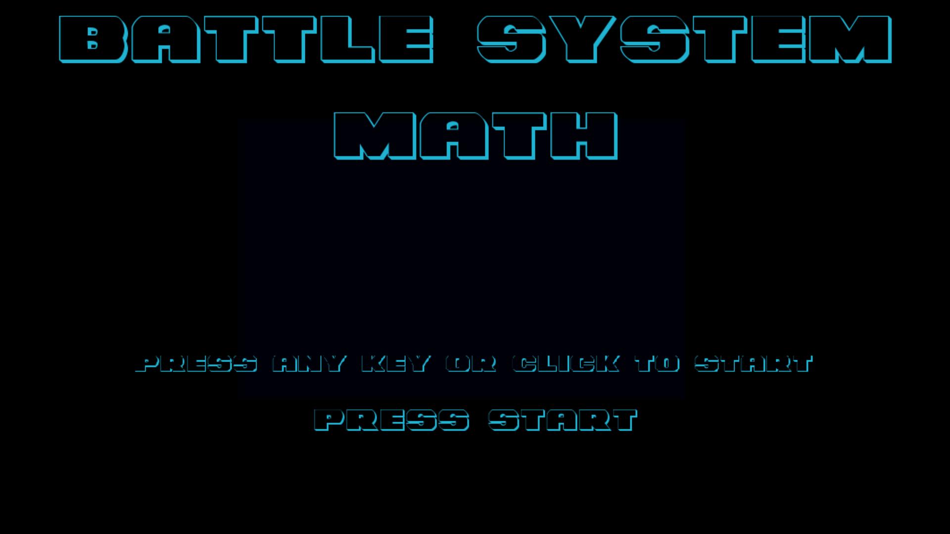 Battle System Math Title Screen