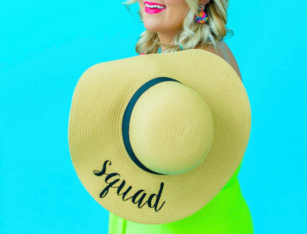 SQUAD -EMBROIDERED FLOPPY HAT