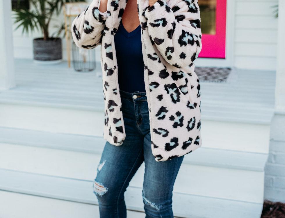 COMFY + COZY - leopard + pink jacket