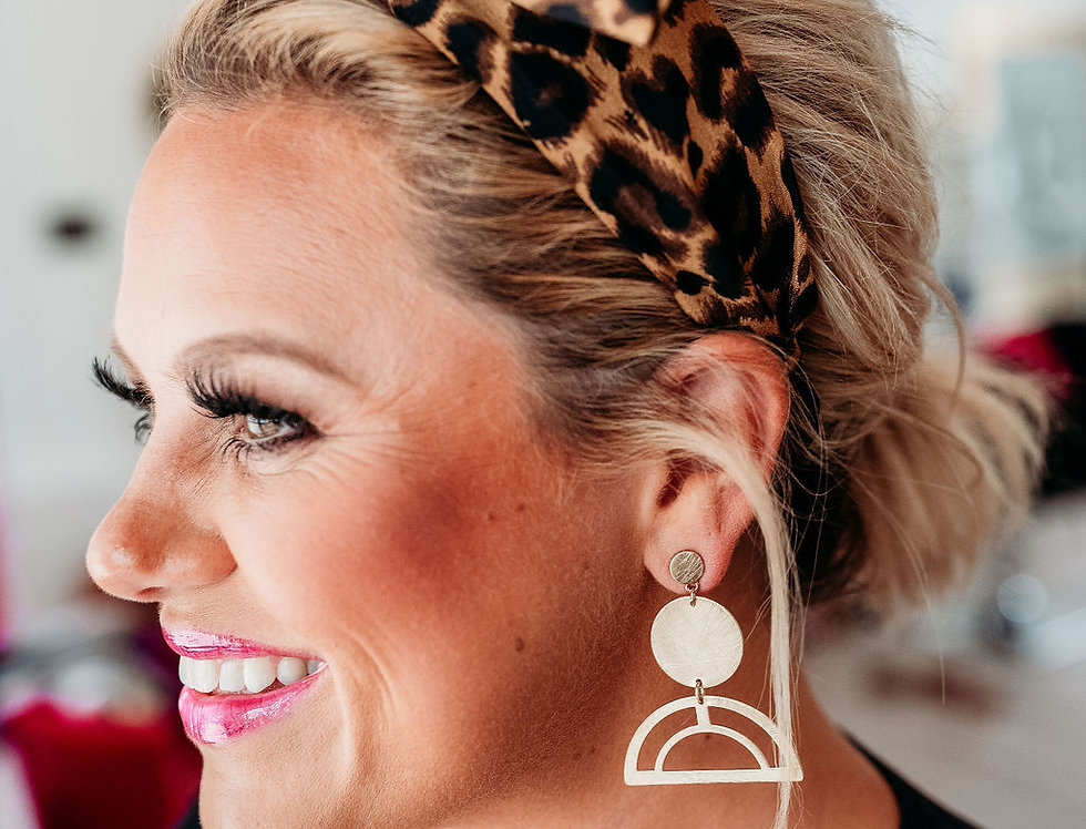 DON'T RAIN ON MY PARADE- gold earrings