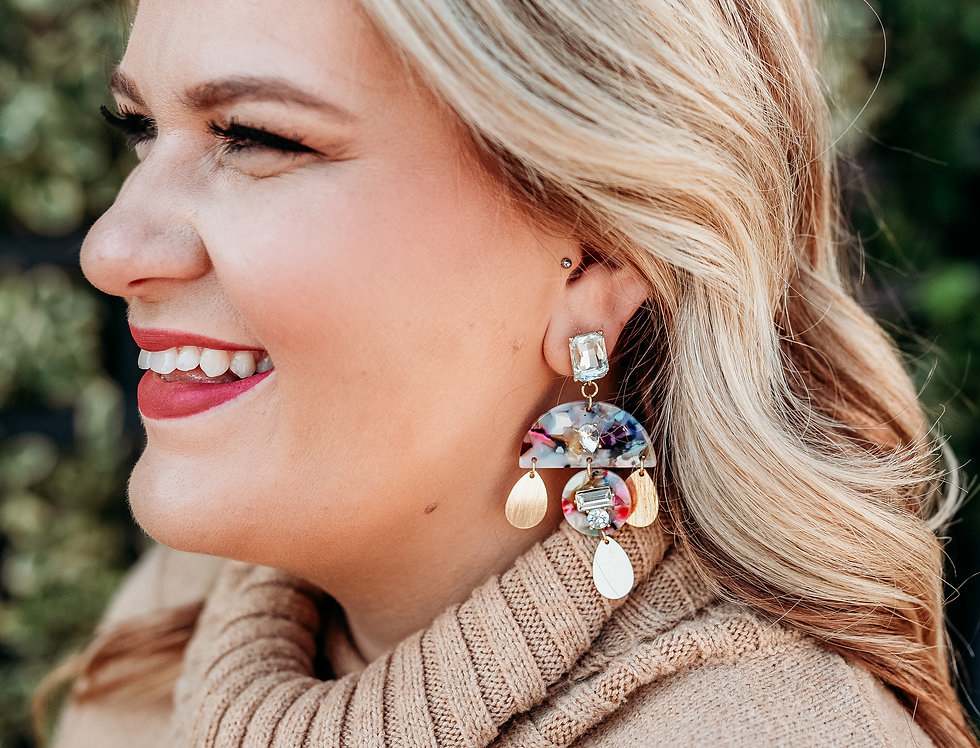 YOU'RE A GEM- colorful dangle earrings