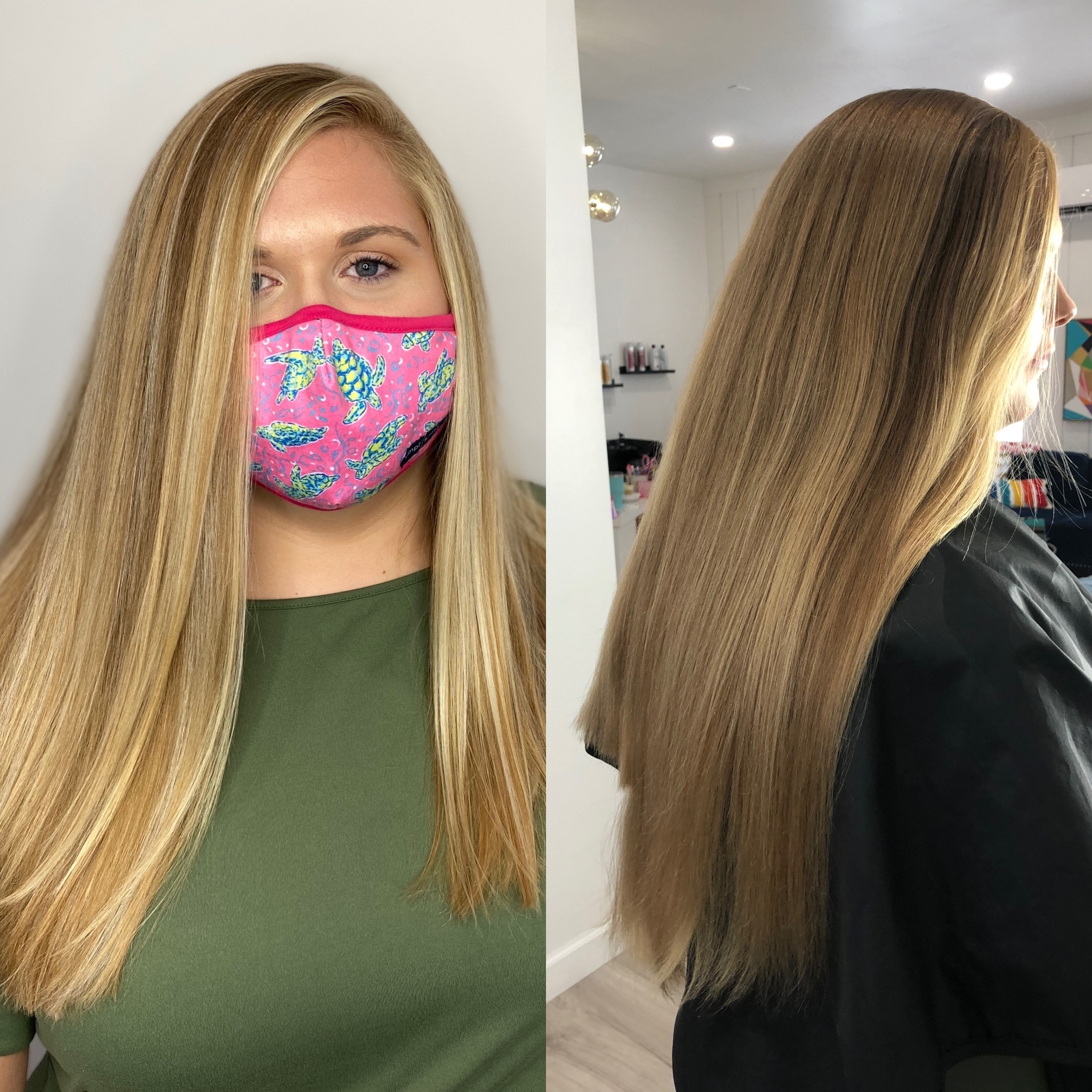 CBC balayage and cut