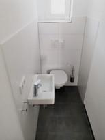 Minimalistisch im Gäste-WC