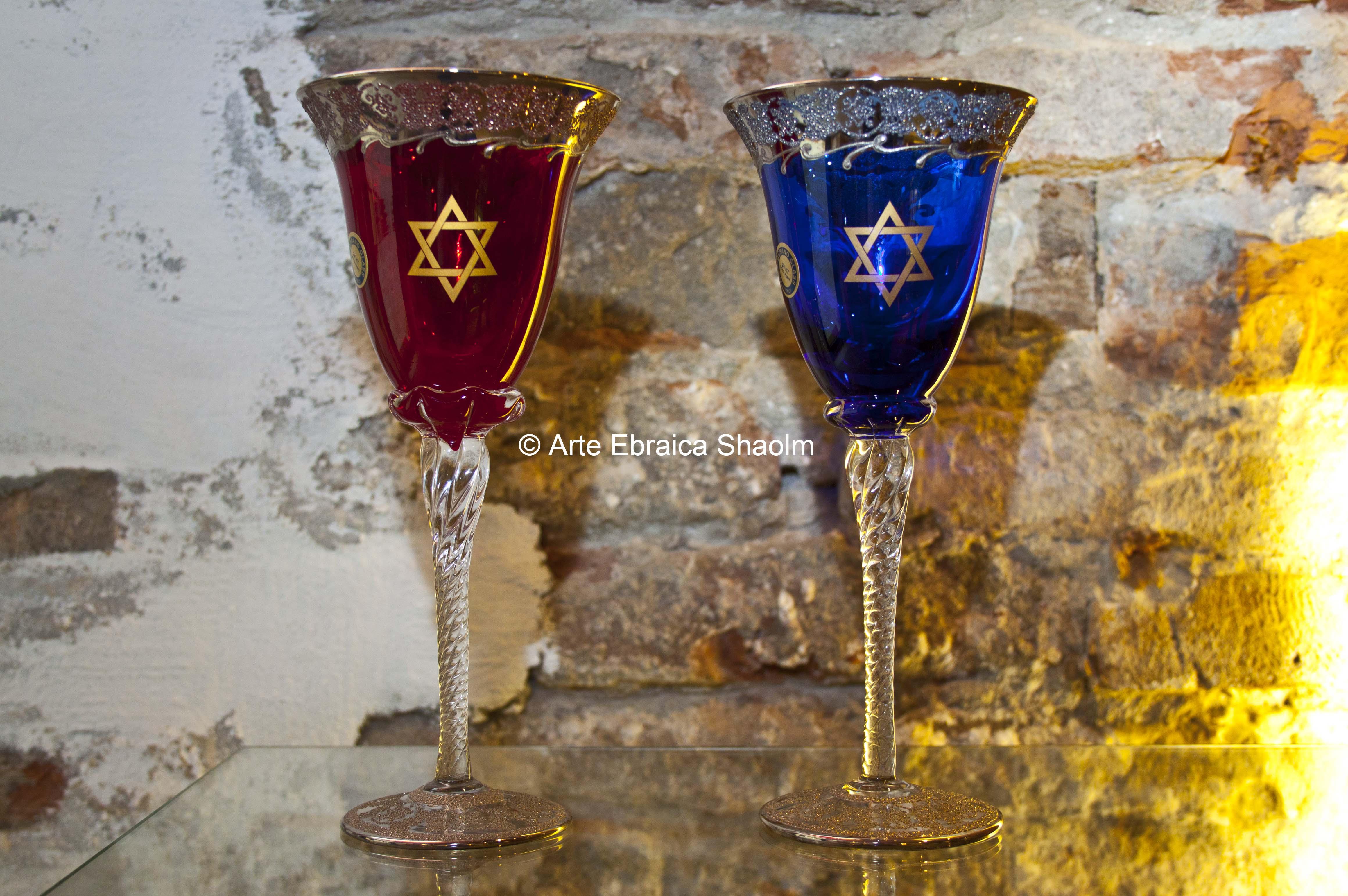 Bicchiere con decorazione in argento