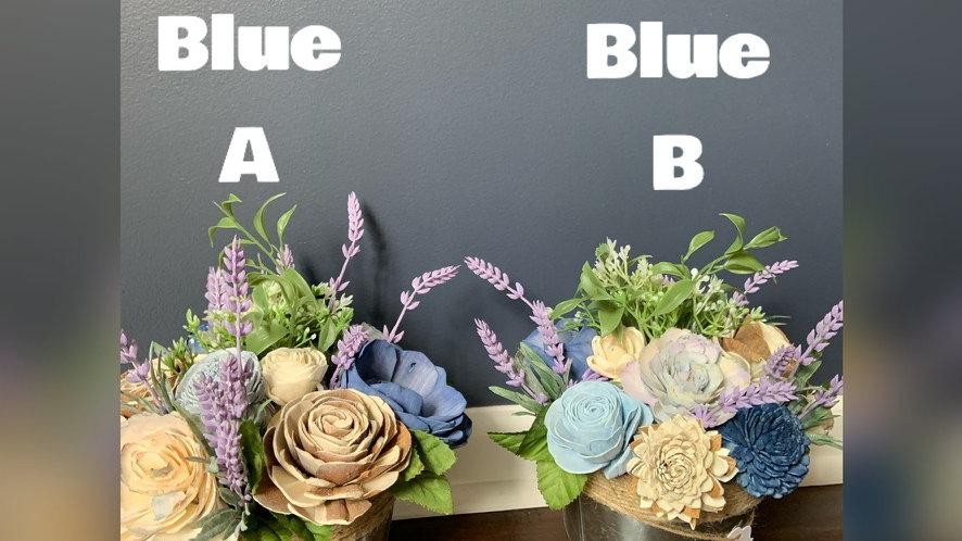 Blue Spring Flowers Planter