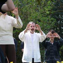 Students practicing Chi Kung (Qigong)