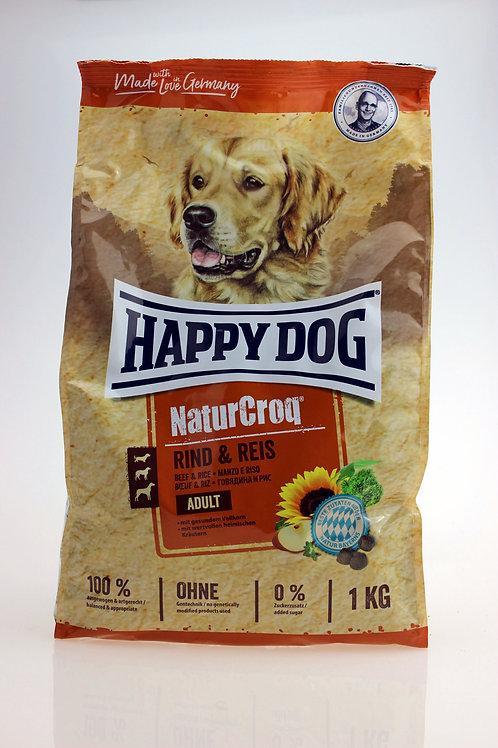 Happy Dog - NaturCroq Rind & Reis 1Kg