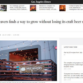 LA Times - Three Weavers finds a way to grow without losing its craft beer street cred